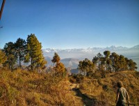 Trek trail leading to Nagarkot
