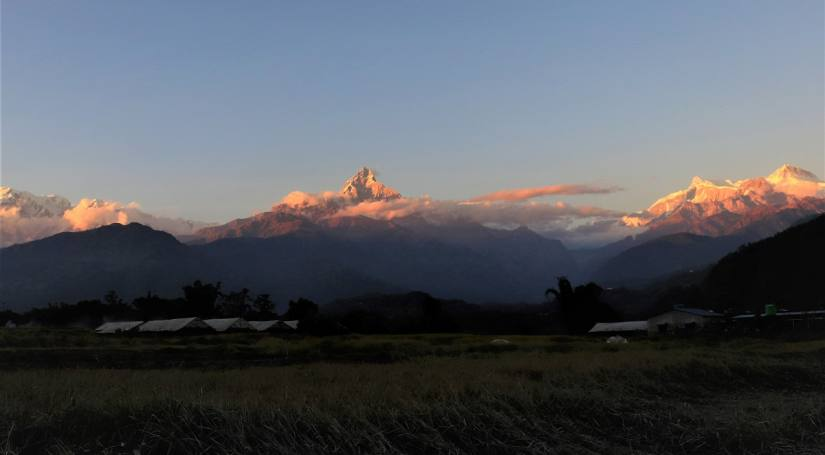 Sunset View from Pokhara