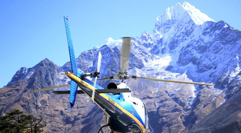 Helicopter Flight in Nepal