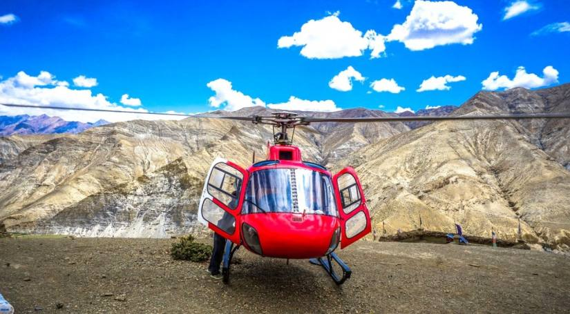 Helicopter Tour Upper Mustang