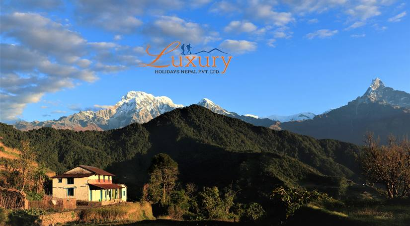 Astonishing View of Annapurna range from Dhampus