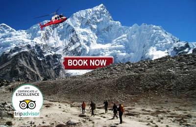 Everest Base Camp Trek with Helicopter flight from Kalapathar to Lukla